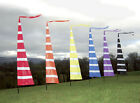 3m Streamer Banner Flag and Telescopic Pole Kit,  ideal for festivals, camping