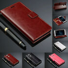 Luxury Flip Wallet Stand Card Slot Wax Leather Cover Case For Huawei CellPhone