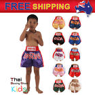 Kids Boxing Shorts Kids Muay Thai Fighting MMA Trunks XXS,XS,S,M 11 Colours