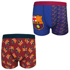 FC Barcelona Official Football Gift 1 Pack Mens Crest Boxer Shorts