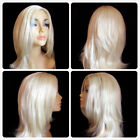 high heat resistant fibre long sensuous wavy lady wig skin top parting T-007