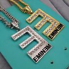 "Great 32'' Hip Hop Eminem Crystal Necklace with 32"" Oblate chain The best RAPPER"