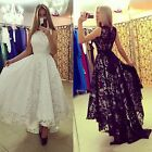 Elegant Womens Long Lace Evening Cocktail Bridesmaid Prom Ball Gowns Party Dress