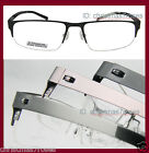 Beta-titanium Eyeglass frame MEN half-rimless super light WT OPTICAL black/brown