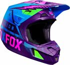 18141-002 Fox Helmet V2 Race Adult Motorcycle MX ATV Off Road Blue Helmet