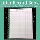 """Litter Record Book & SOLD SEPARATELY Whelping Puppy ID Collar Litter Bands 3/8"""""""