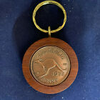 50th Birthday gift present 1966 Jarrah Penny Keyrings many other years available