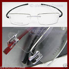Rimless men women Titanium+TR Light optical Eyeglass frames Black/Red/Silver NEW