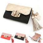 Women's Genuine leather cubic butterfly turn lock keyholder with tassel