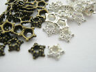 100 Tiny Metal Bead Caps (5mm) Silver Plated or Bronze Colour Bead Ends Findings