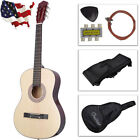 4 Colors Choose Beginners Acoustic Guitar W/Guitar Case Strap Tuner Pick New