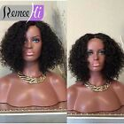"""Fashion 12""""-22""""  Indian remy human hair afro curly full lace wig lace front wig"""