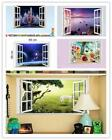 Window 3D Wall Sticker Removable Decal Wallpaper Home Decor Mural Art