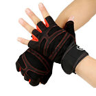 Weight Lifting Half Finger Gloves Wrist Wrap Sports Exercise Training Fitness