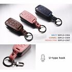 3Button Stitched Folding Key Leather Case Cover Holder Pouch for SSANGYONG Car