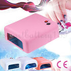 36W Professional UV LED Nail Lamp Art Gel Curing Polish Light Dryer + 4 Tubes AU