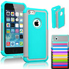 Film + Heavy Duty Impact Slim Armor Hard Defender Case Cover For Apple iPhone 5C