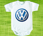 VW Volkswagen LOGO BABY BODYSUIT ONESIE ONE PIECE CLOTHING  FUNK