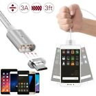 3A Magnetic LED Micro USB Fast Charging Charger Cable for Android Samsung LG