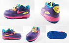 GIRLS NIKE AIR MAX 90 TD PURPLE PINK VOLT RED TODDLER TRAINERS 408112503