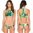 New Women's Bikini Swimsuit Push Up Padded Beachwear Swimwear Bathingsuit Leaf