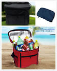 12L foldable travel picnic insulated cooler/warm shoulder strap mummy tote bag