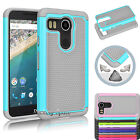 Hybrid Shockproof Defender Slim Armor Hard Case For LG Google Nexus 5X (2015)