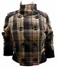 Jane Norman Check Bomber Jacket Multi Beige, Brown Pink Sizes 8 10 12 14 RRP £55
