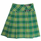 "Tartanista Long Irish Green Tartan/Plaid 23"" Wrap Kilt Skirt 6-28"
