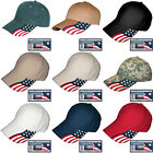 USA Flag Hat Rockpoint Freedom Baseball Cap Adjustable Patriotic 9 Cotton Colors