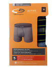 "C9 By Champion BOYS' Boxer Briefs 5-Pack ""DUO DRY  ACTIVE PREFORMANCE"" NEW"