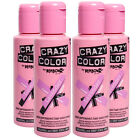 crazy colour candy floss - 4 x Crazy Color Semi Permanent Colour Hair Dye by Renbow