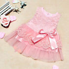 Newborn Baby Girl Party Princess Pageant Tutu Kids Toddler Bow Flower Dress Baby