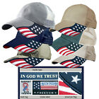 Rockpoint Freedom Mesh structured Baseball Cap USA Flag Hat Adjustable 6 colors