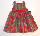 Holiday Editions Infant Girls Christmas  Plaid Dress Sizes 24M, 2T, 4T, 5T  NWT