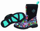New Muck Boot BMCT-FLR Women's Black/Floral Breezy Mid Rain Boots