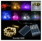 String Fairy Light 100 LED 32ft Battery Operated Xmas Lights Party Wedding Decor