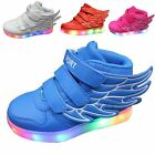 Kid Boy Girl USB Charge LED Light Up Sneakers sport Shoes Dance children great