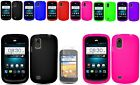 Screen Protector+Silicone Case Skin For Tracfone/Net10 ZTE Midnight Z768G Phone