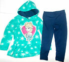 Disney Frozen Girls 2 Piece Fleece Hoodie and Leggings Outfit Elsa Size 4T NWT