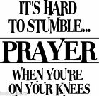Prayer on knees Wall Vinyl Sticker Decal Decor quote