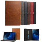 Leather Smart Cover Hard Back Case For Samsung Galaxy Tab A 10.1 (2016) T580
