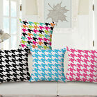 "Houndstooth Swallow Gird 18""x45cm Decor Cotton Linen Cushion cover Pillowcase"