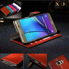 New For Apple iPhone & Samsung Leather Wallet Case Card Holder Flip Stand Cover