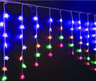 60 Multi Colour Led Christmas Lights Indoor Star Curtain Brand New (#35)