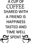 Cup of Coffee Kitchen Cute Fun Decor vinyl wall decal quote sticker Inspiration