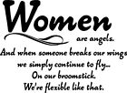 Women are Angels adorable vinyl wall decal quote sticker decor Inspirational