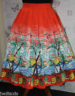 Banned Apparel Swing 50s Hawaiian Tropical Palm Spring Skirt Plus Size 18 - 22