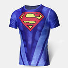 3D Men Superman Superhero Marvel Slim T Shirts Cycling Jersey GYM Running Shirts