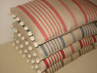 NEW Kate Forman Ticking Linen Fabric Pom Pom or Piped Cushion Cover -ALL COLOURS